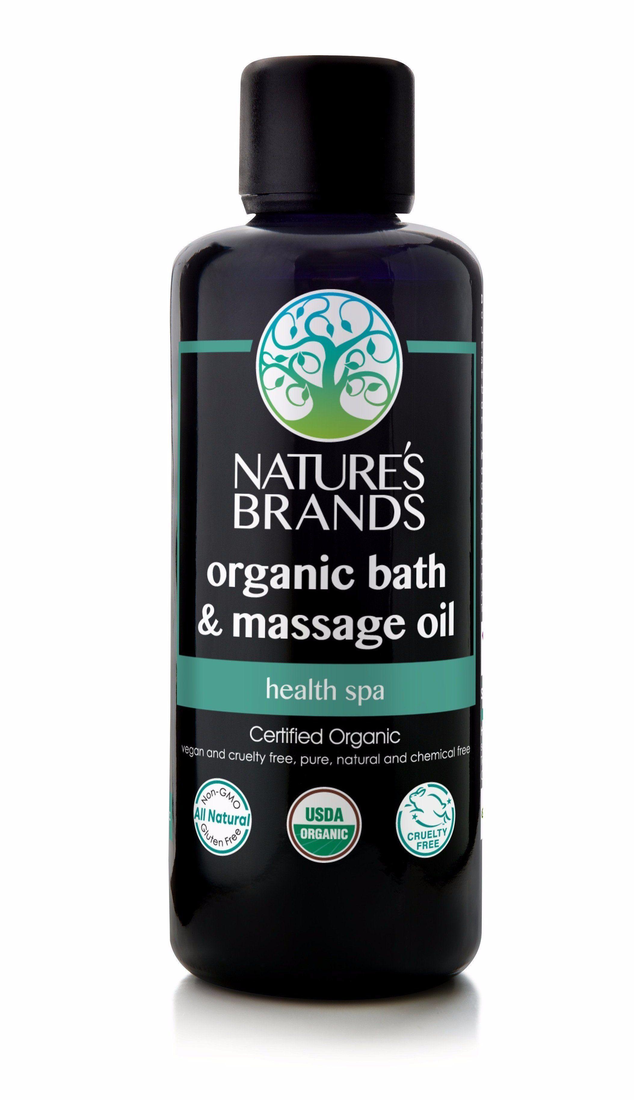 Herbal Choice Mari Organic Bath & Massage Oil, Health Spa for Your ...