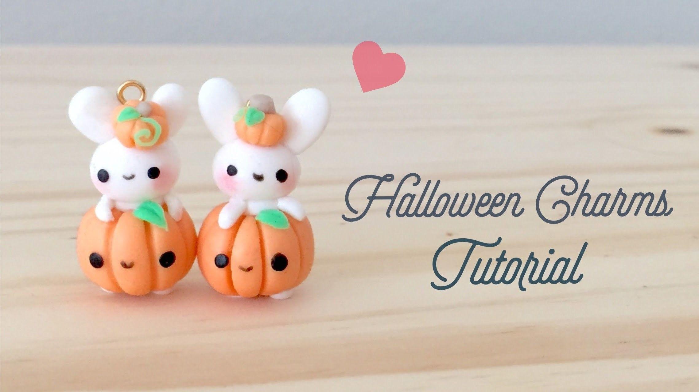 diy halloween bunny kawaii polymer clay tutorial   diy projects