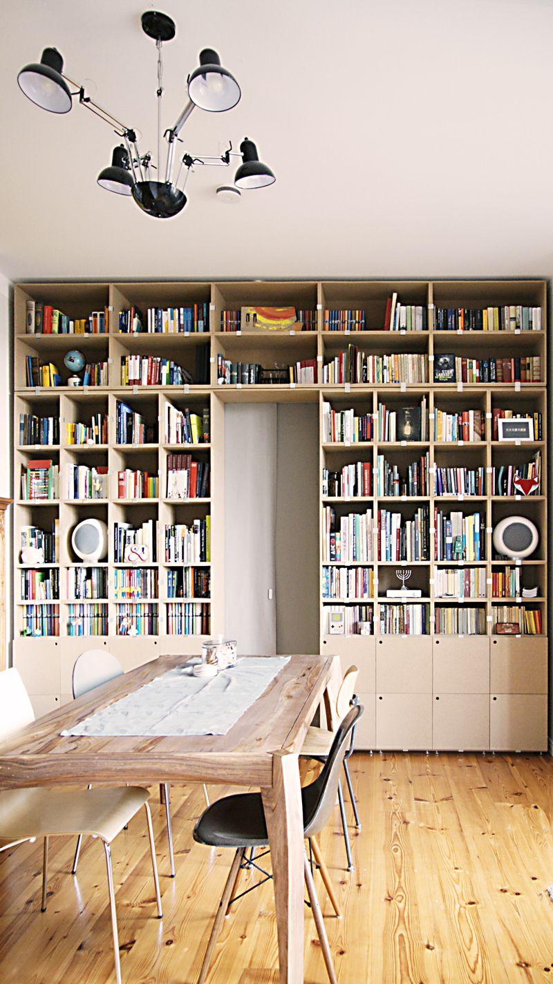 Bücherregal mit Trennwand und Türdurchlass #bücherregal #stocubo ...