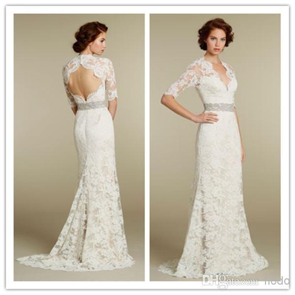 Discount Designer Wedding Gowns: Discount Jim Hjelm Spring 2014 Vintage Sheath Portrait