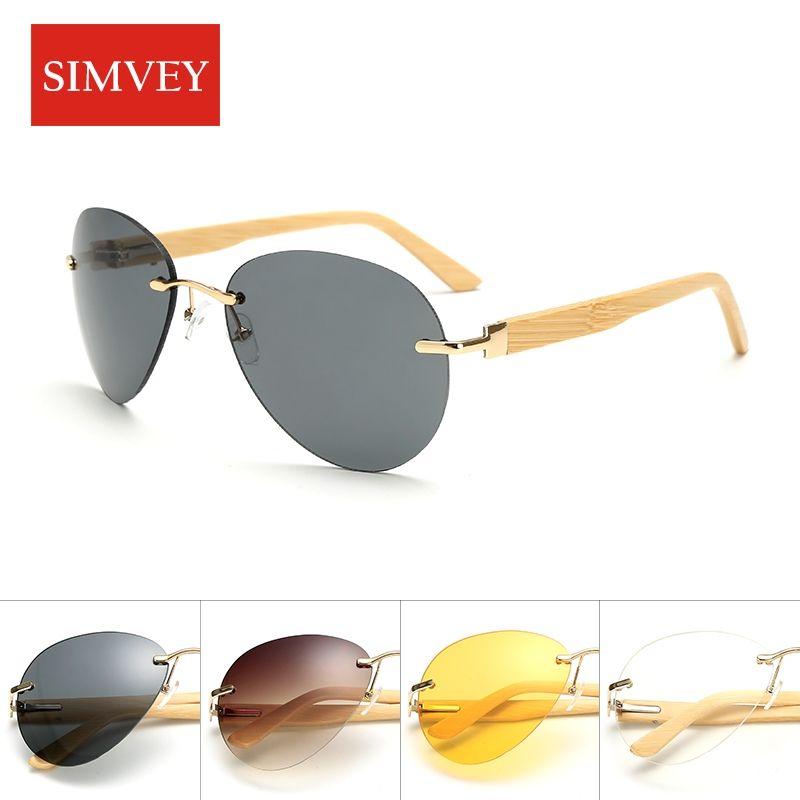 Simvey 2017 Fashion Trending Gold Wood Glasses Frames Sunglasses ...