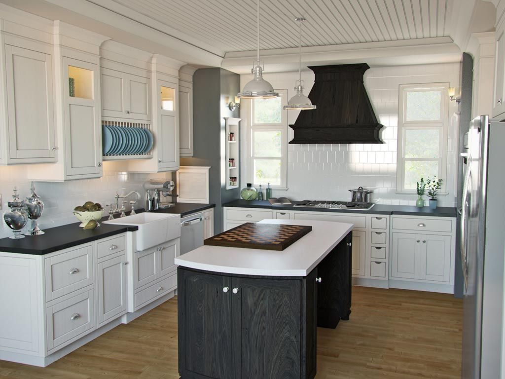 White English Cottage Kitchen Love The Farmhouse Sink