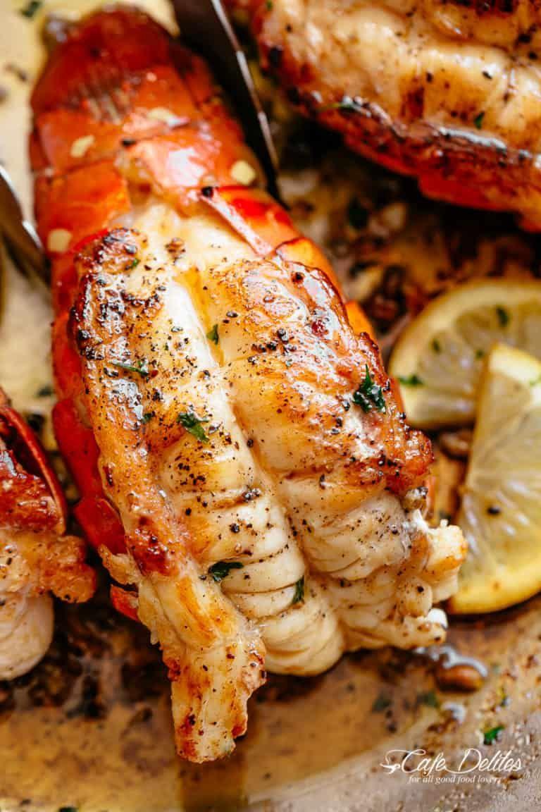 Butter Seared Lobster Tails Cafe Delites Lobster