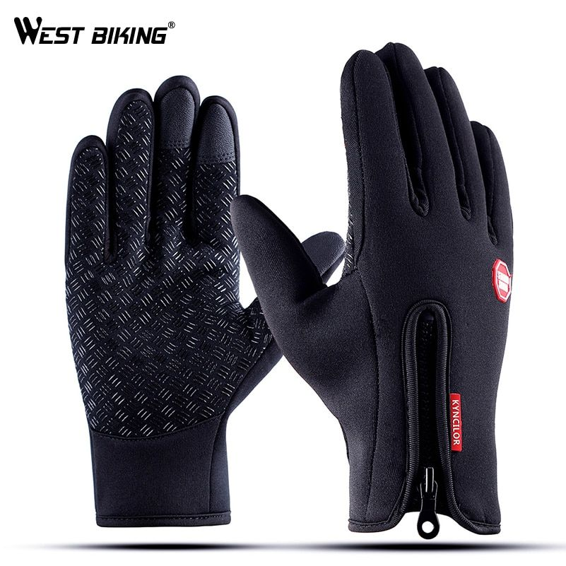 Men Women Cycling Gloves Full Finger Bike Bicycle Gloves Touch Screen Windproof