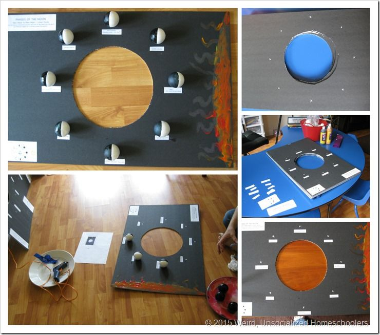 Hands On Moon Phases Project Science Experiments Moon