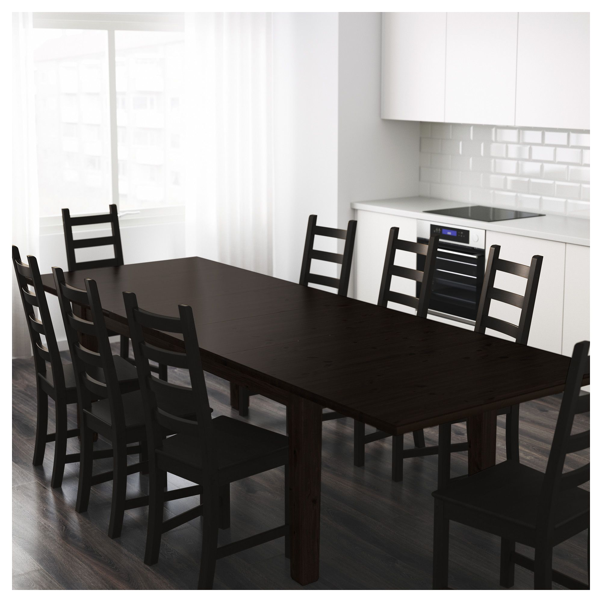 Stornas Extendable Table Brown Black Ikea Ikea Dining Table