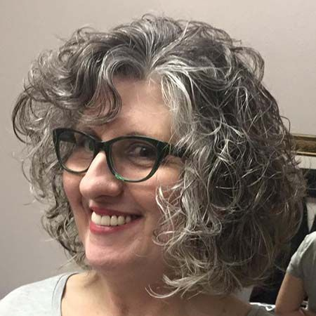 Curly Gray Short Hair Grey Curly Hair Grey Hair Inspiration Short Hair Styles