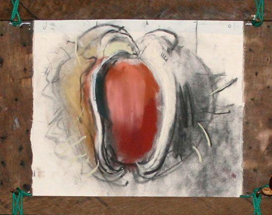 Niel Bally, pastel drawing