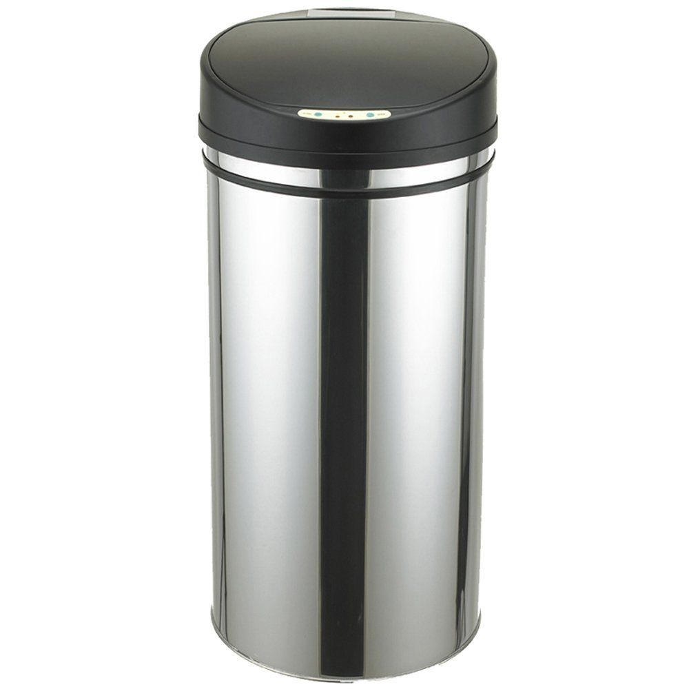 Jago ATME03 Stainless Steel Trash Bin with Motion Sensor Approx. 62 ...
