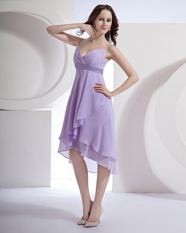 Miedoso Vestido De La Dama De Honor De Color Púrpura Claro Ideas ...