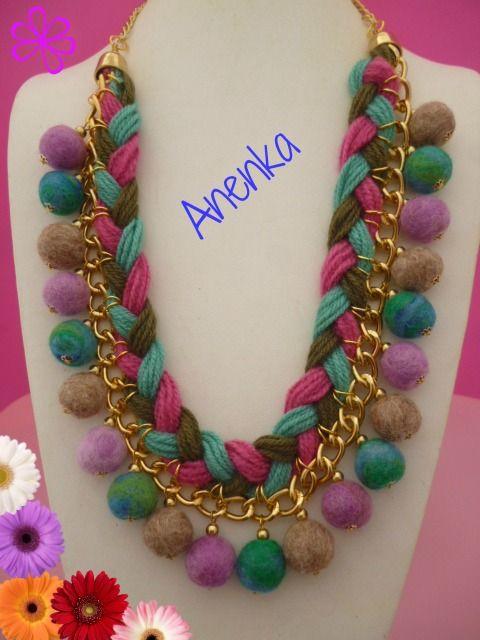 Www Xn Diseo Bijouterie 9tb Com Ar Wp Content Uploads 2014 05 Trenzado C Fieltro Jpg Beaded Jewelry Felt Jewelry Fiber Jewelry