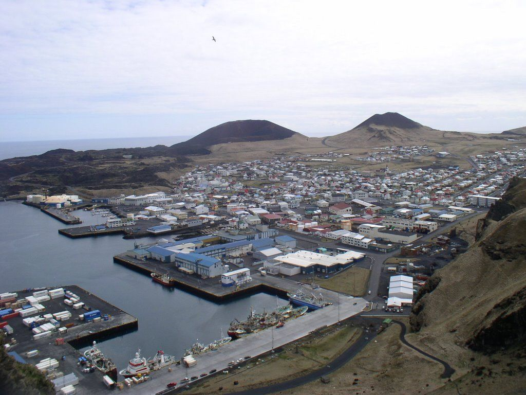 Heimaey, volcanes Eldfell y Helgafell