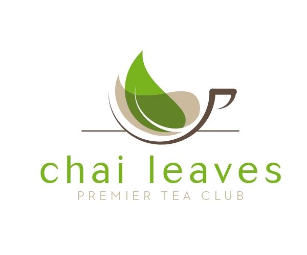 Chai Leaves Premier Tea Club Logo Tea Logo Logo Design Coffee Cafe Logo Design
