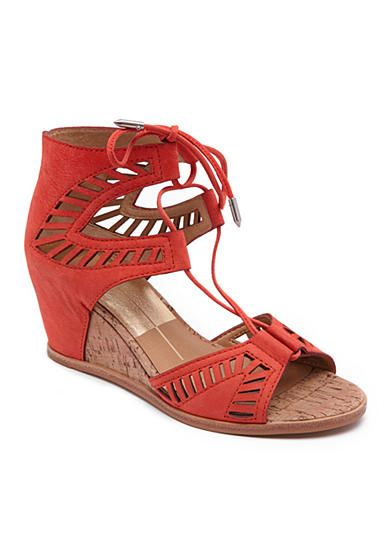 1e1d1bc74dd Love the Dolce Vita Linsey Wedge Sandal in Persimmon. Laser cutouts give  this sandal a