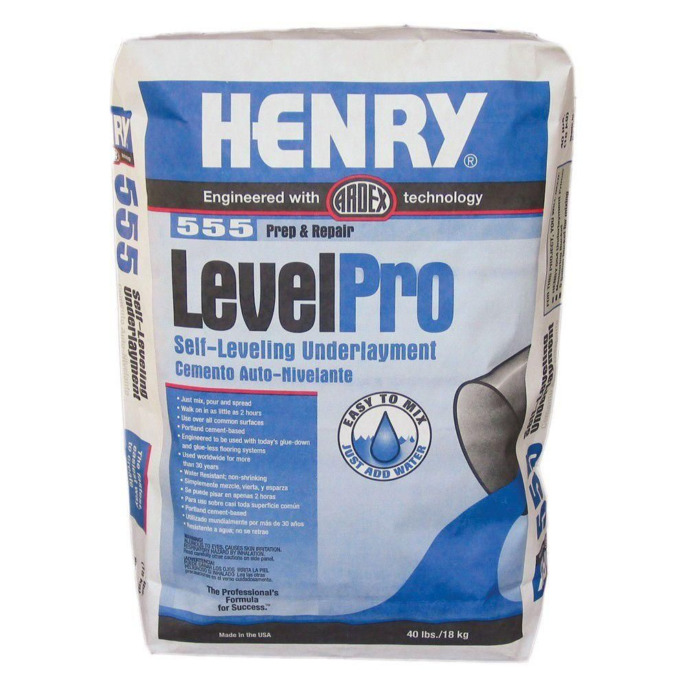 Henry 555 level pro 40 lb selfleveling underlayment