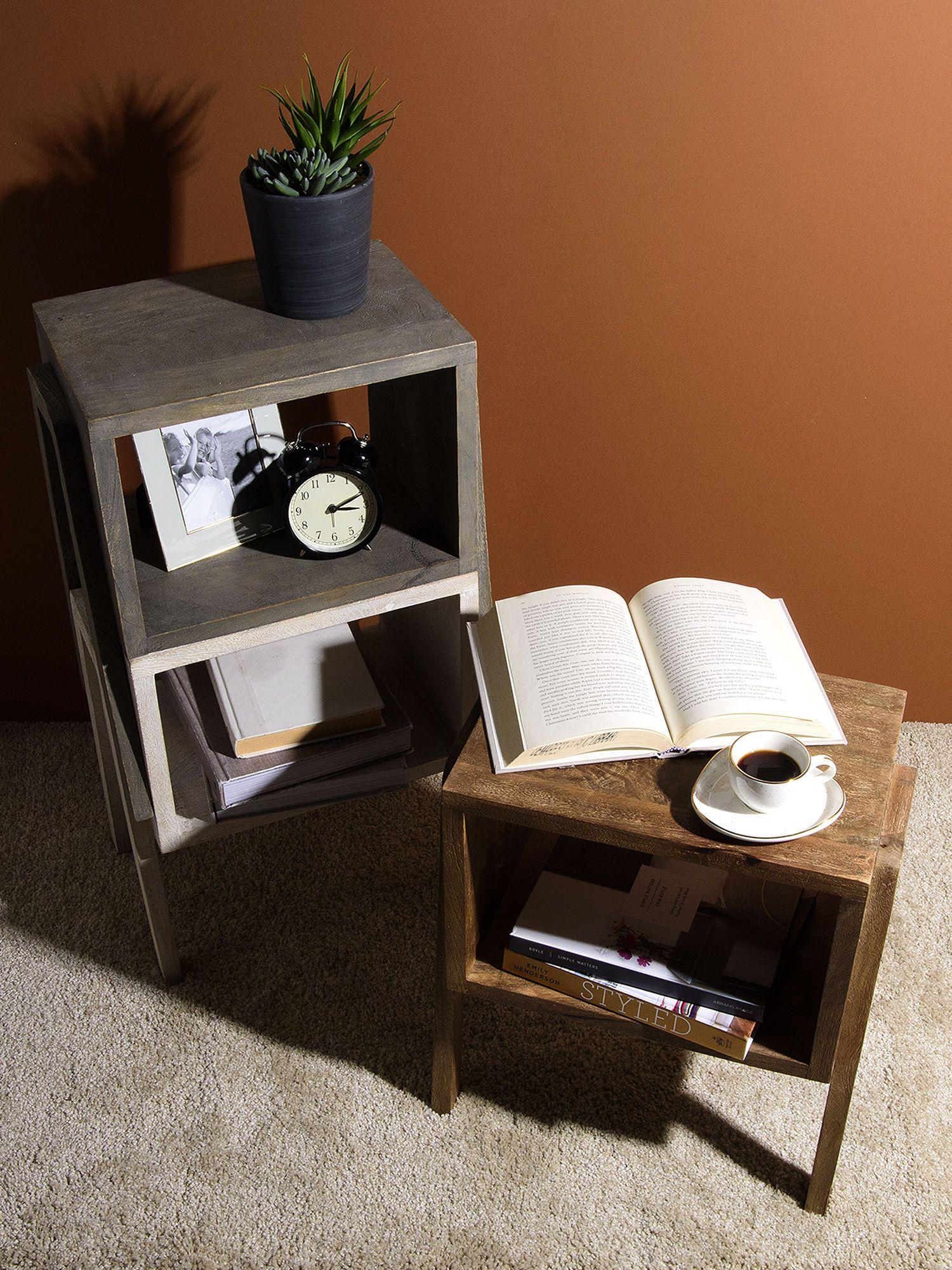 Small Stackable Wood Shelf Table Wood shelves, Home
