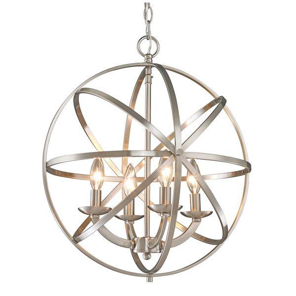 Z Lite Aranya Brushed Nickel 4 Light Chandelier Ping Great Deals On Chandeliers Pendants