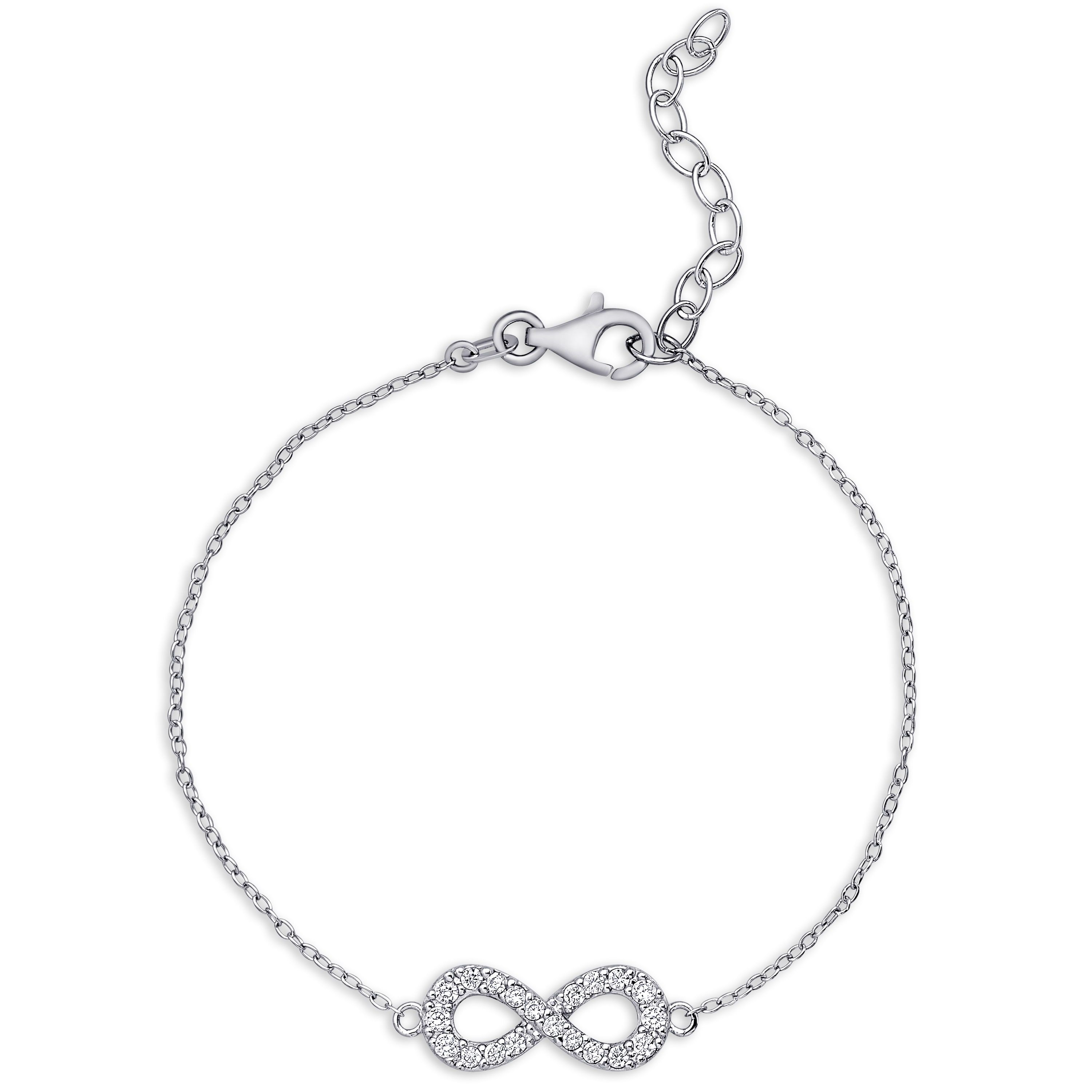 Dolce giavonna sterling silver cubic zirconia infinity design