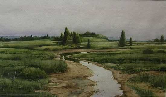 salt marsh watercolor - Google Search