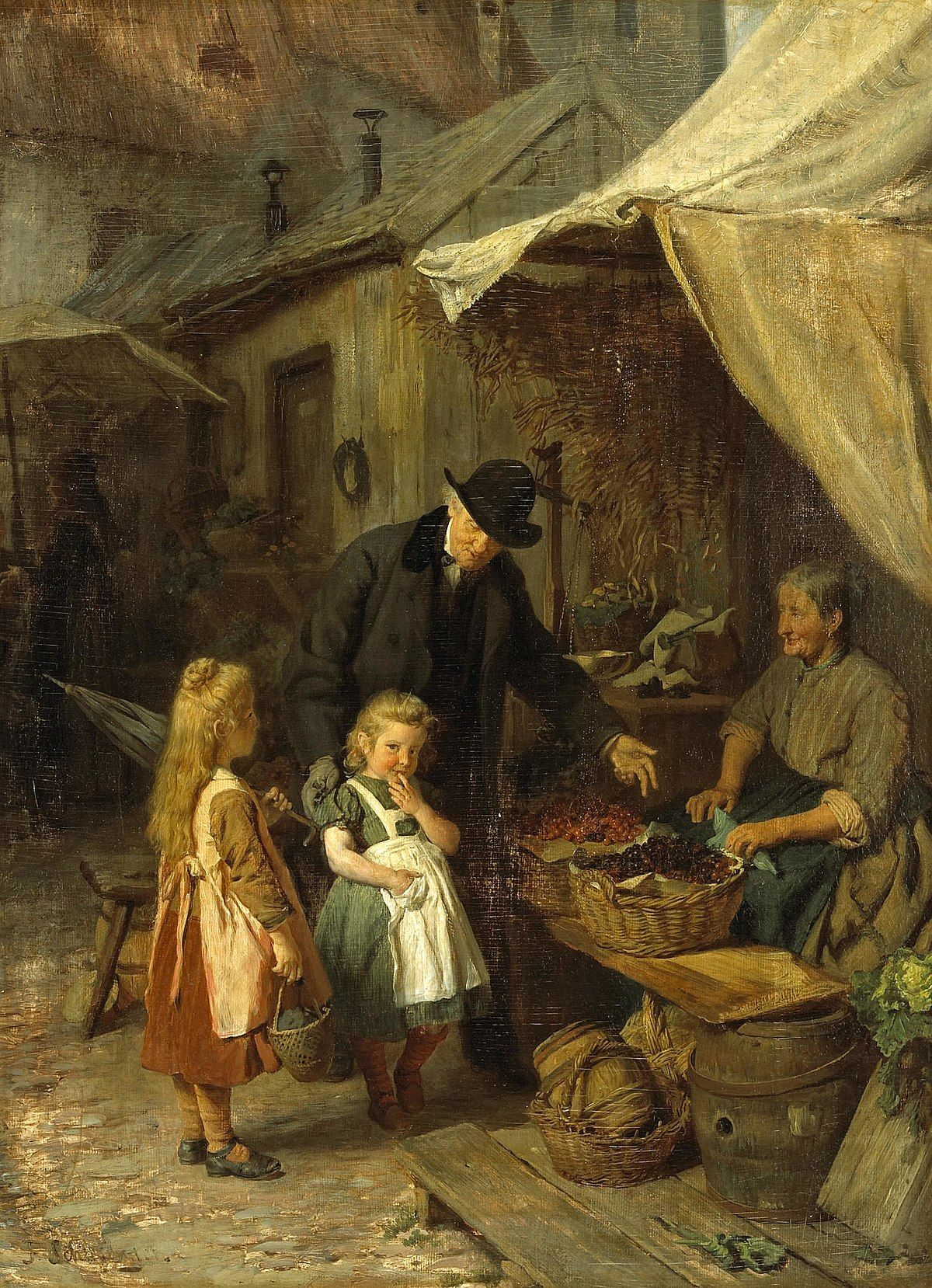 Market Town Wikipedia Classic Paintings Painting Art
