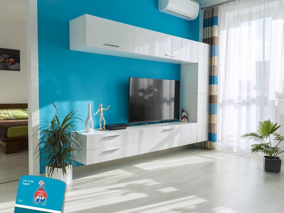 El azul es un color ideal para pintar habitaciones, ya que permite ...