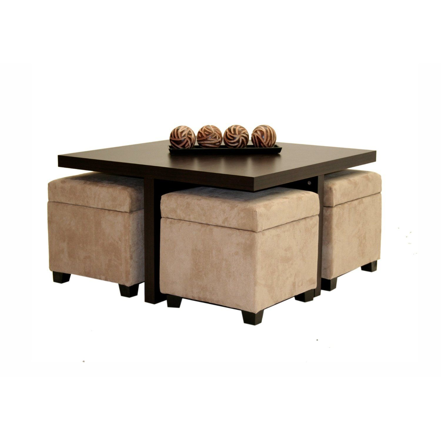 This Looks Like It Would Match Our Living Room Couch Chair Really Well Coffee Table W 4 Storage Ot Coffee Table With Seating Coffee Table Ottoman Coffee Table [ jpg ]