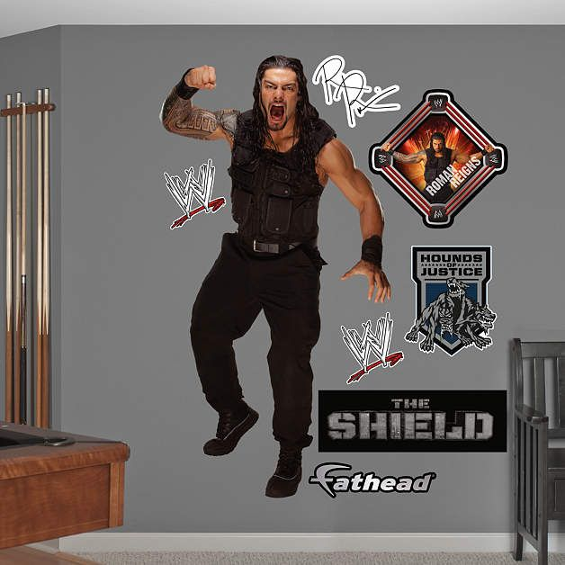 Roman Reigns Fathead Wall Decal Roman Reigns Reign Wwe Roman