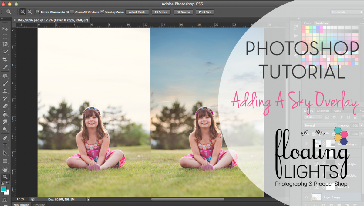 how to add sky in photoshop