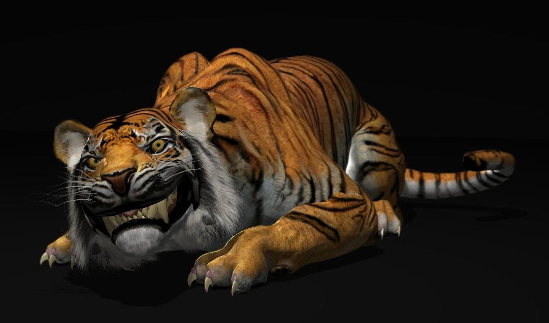 Download a free Tiger animation rig for Autodesk Maya