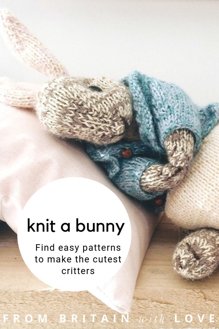 Dot Pebbles rabbit knitting patterns & woodland animals - From Britain with Love