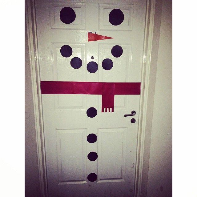 Snowman Christmas Door Design