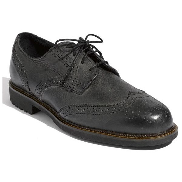 Neil M 'Conway' Oxford ($240) ❤ liked on Polyvore featuring men's fashion, men's shoes, men's oxfords, vintage black, mens oxford wingtip shoes, mens black oxford shoes, mens black wingtip shoes, mens vintage leather shoes and mens wingtip shoes