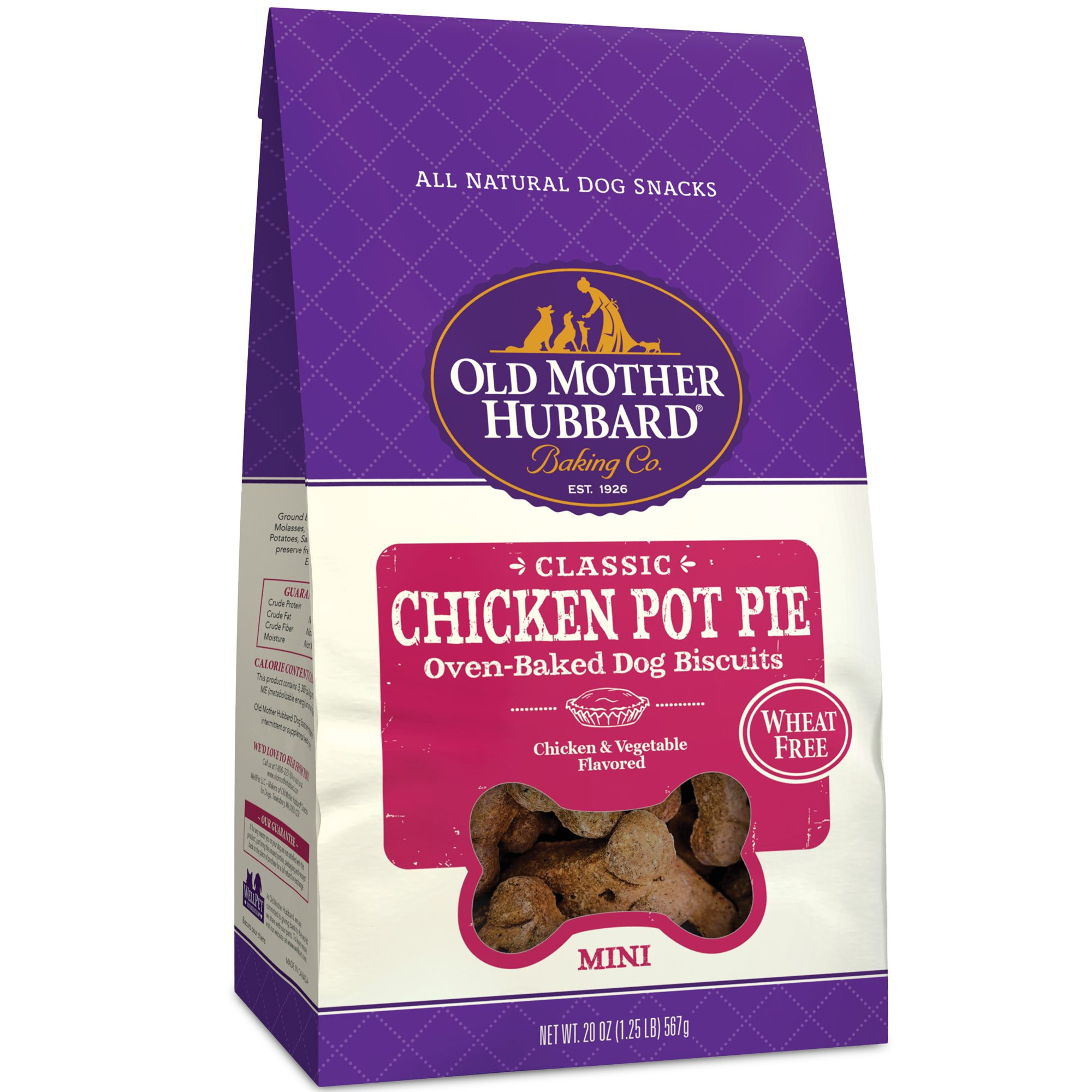 Old Mother Hubbard Mini Classic Chicken Pot Pie Biscuits Baked Dog