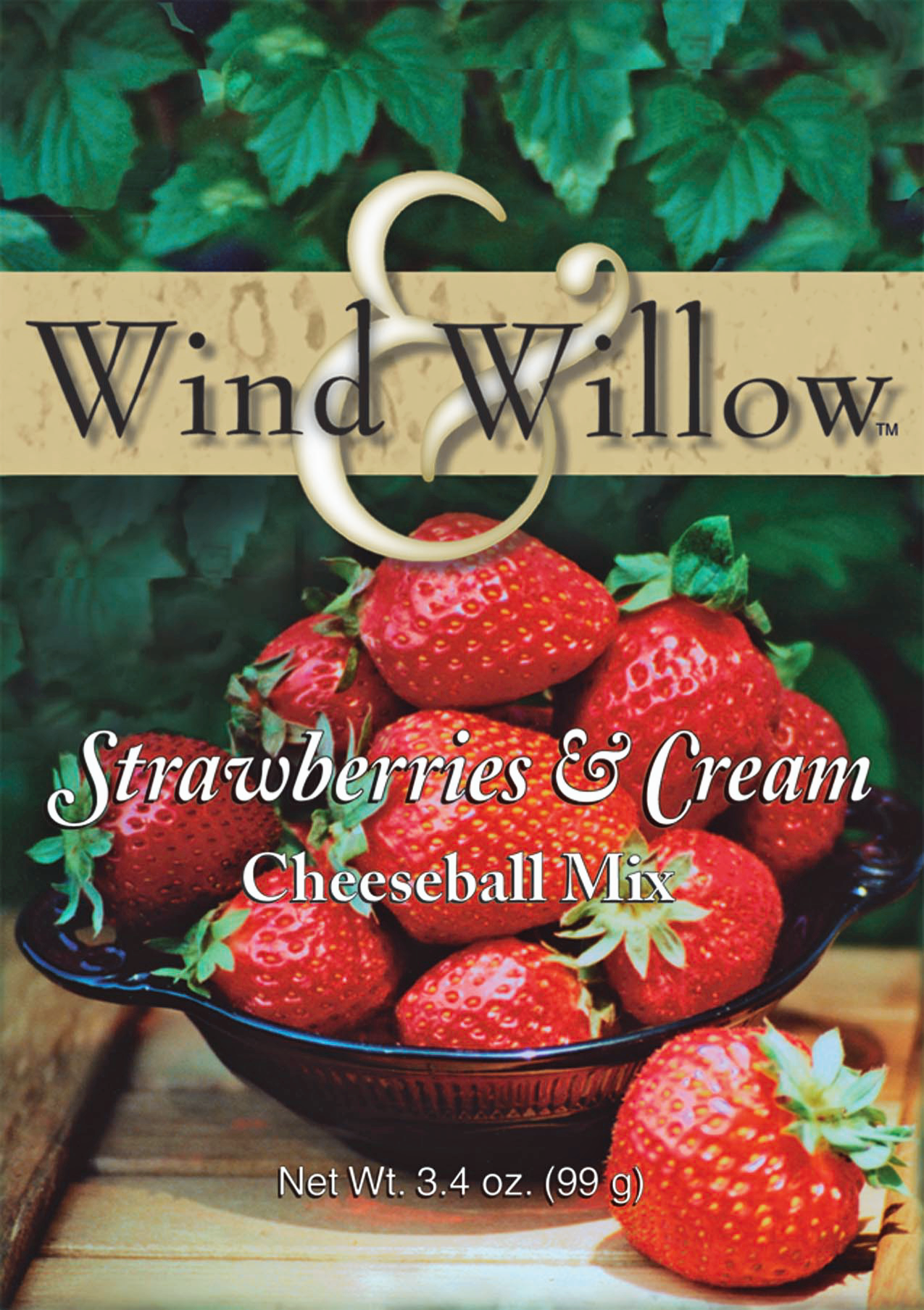 Wind & Willow Strawberries & Cream Cheeseball Mix.  This favorite cheeseball has real strawberry pieces right in the mix. A terrific dessert cheeseball.