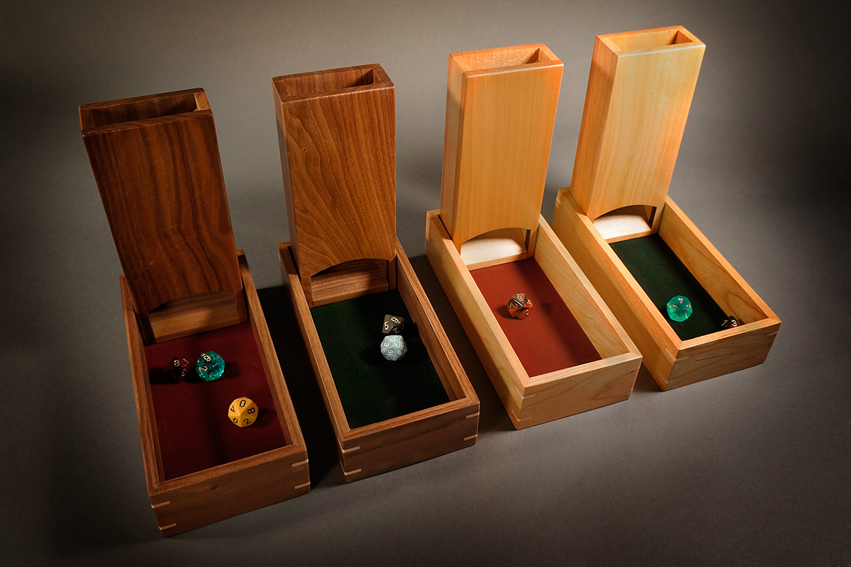 Dice Tower/Rolling boxes Wood games, Woodworking