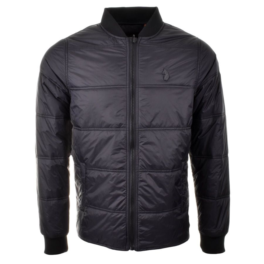 Luke 1977 Liner Jacket In Jet Black, A lightweight padded jacket with a  horizontal quilted