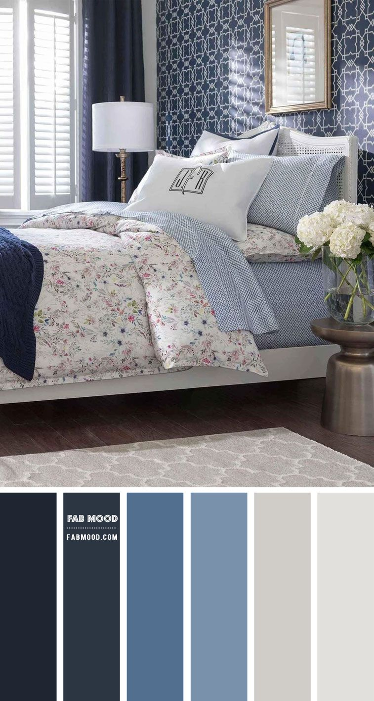 7 Calming Color Palettes for Bedroom Shades of Blue