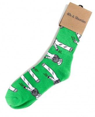 40's & Shorties - Bongs Socks (Green) - $12