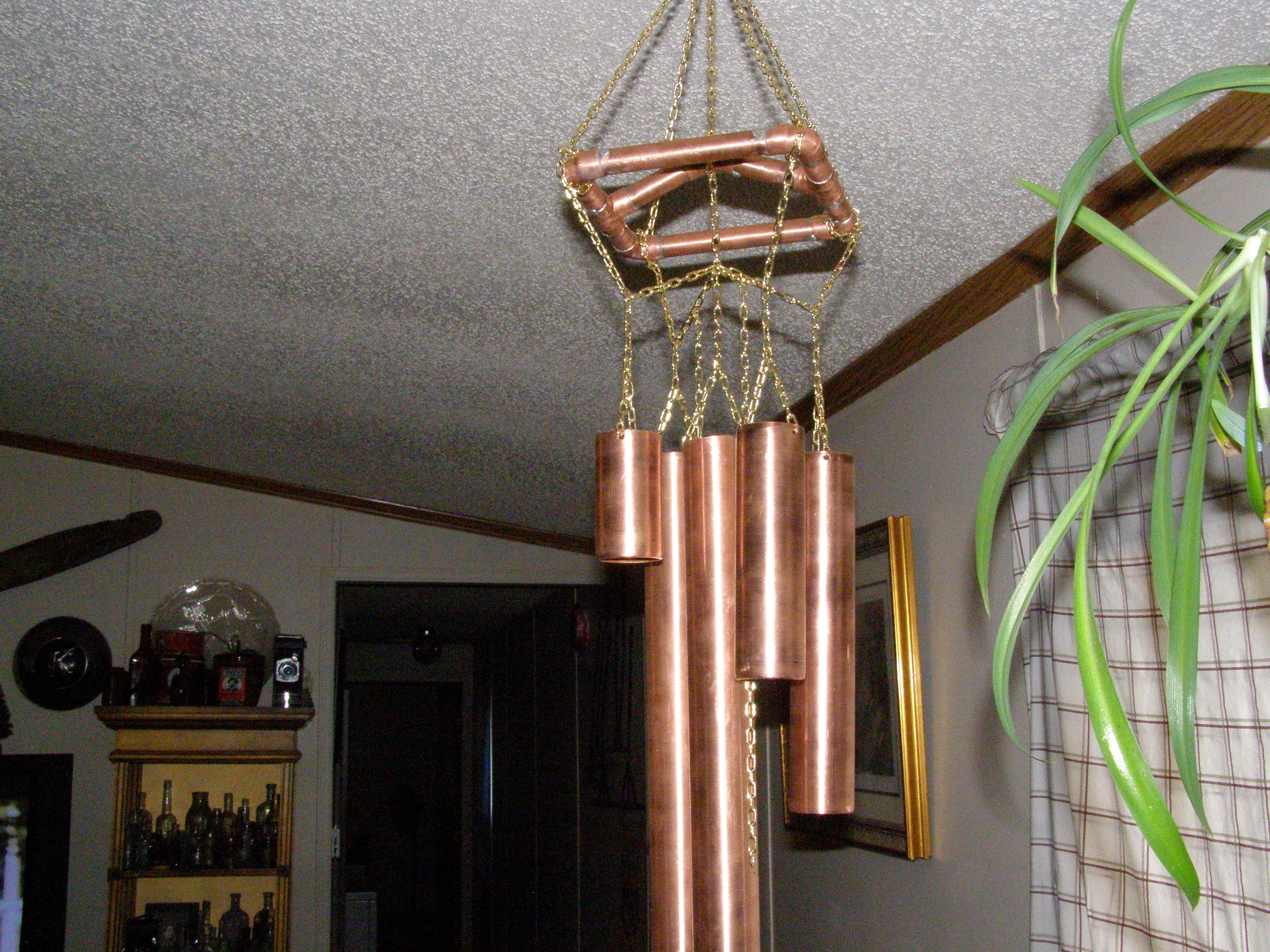 Large Copper Wind Chimes.