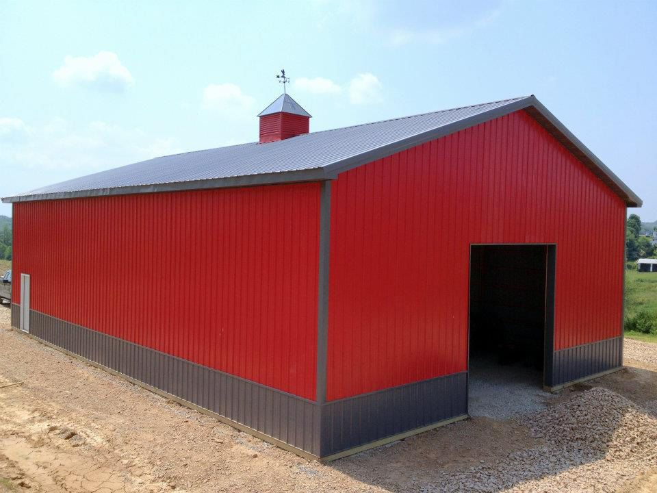Red Pole Barn Google Search Metal Shop Building Shop Buildings Pole Barn