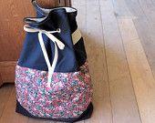 Canvas Drawstring Backpack - Organic Fabrics - Navy Blue - Limited Edition