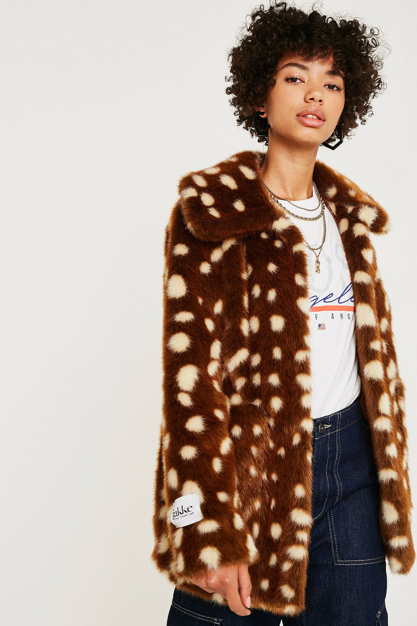e851cff0a641 Jakke Tammy Bambi Faux Fur Jacket in 2019