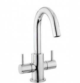 Mike Lever basin monobloc in Deck Mounted   Luxury Crosswater Bathroom Design Ideas & UK Bathroom Trends