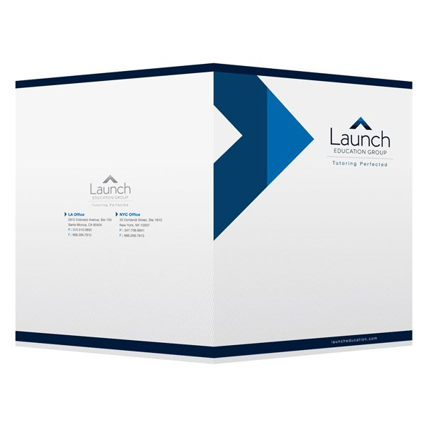 Corporate Business Folders for Launch Education Group (Front and ...