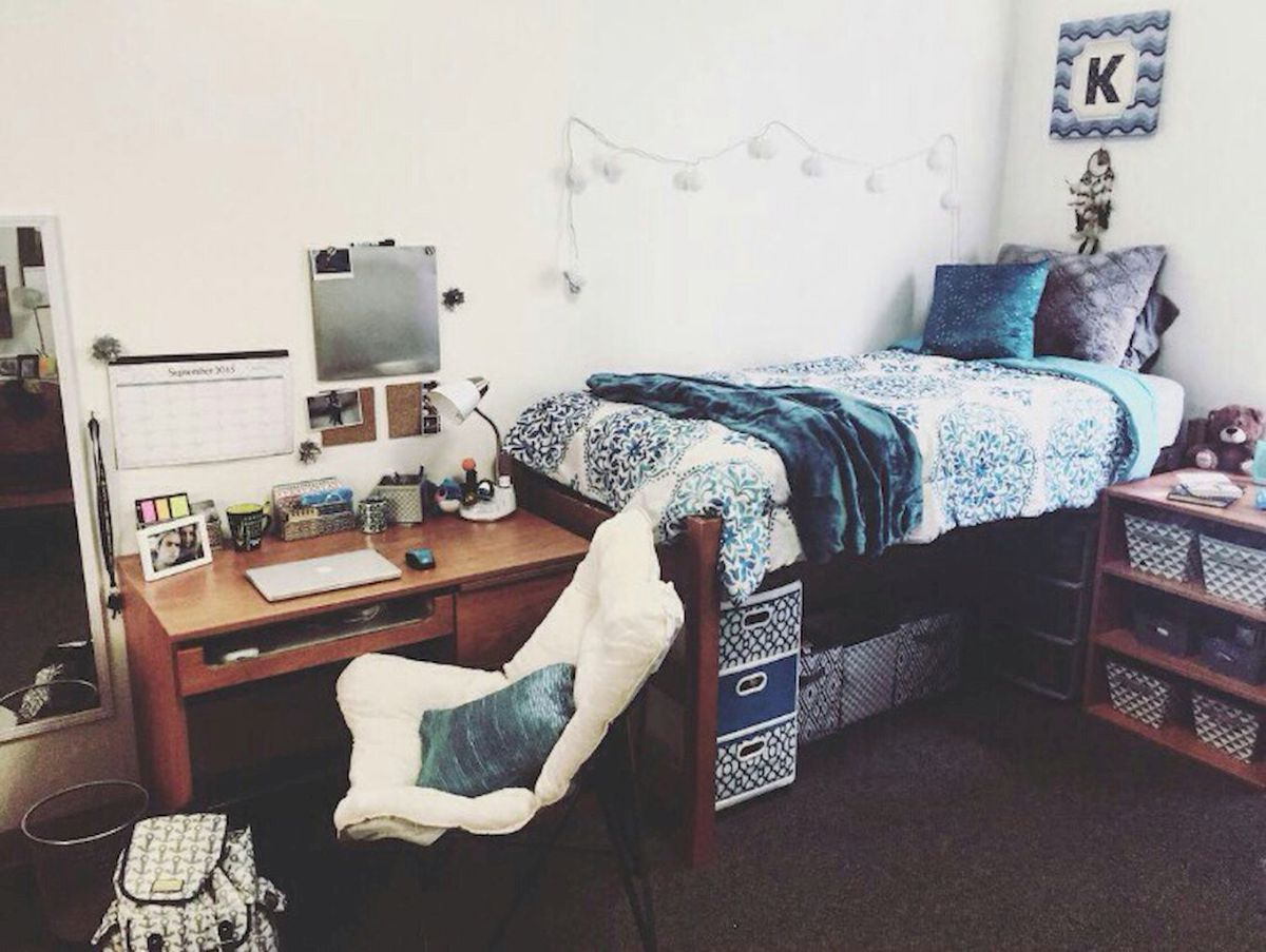 Stunning and cute dorm room decorating ideas 44