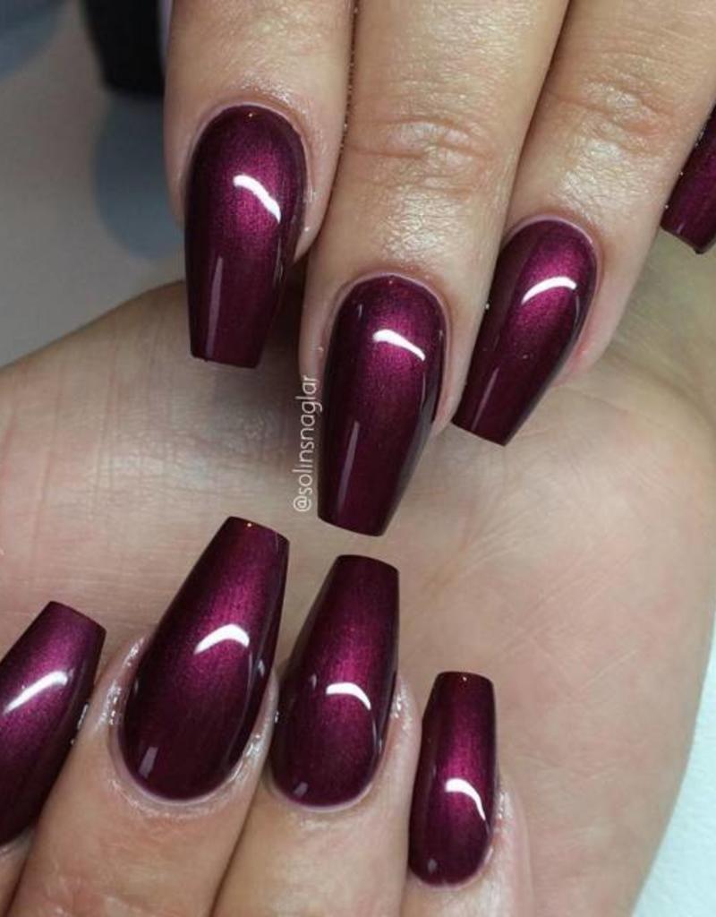 Gel polish black cherry purple gel nails cherry nails