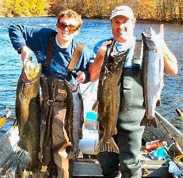 Salmon river new york fishing guides salmon fishing for Salmon fishing new york