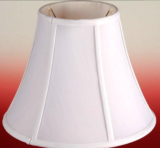 "Slip Uno Fitter Lamp Shade Entrancing Bell Silk Uno Lamp Shade Cream White 1012""w  Floor Lamp Review"