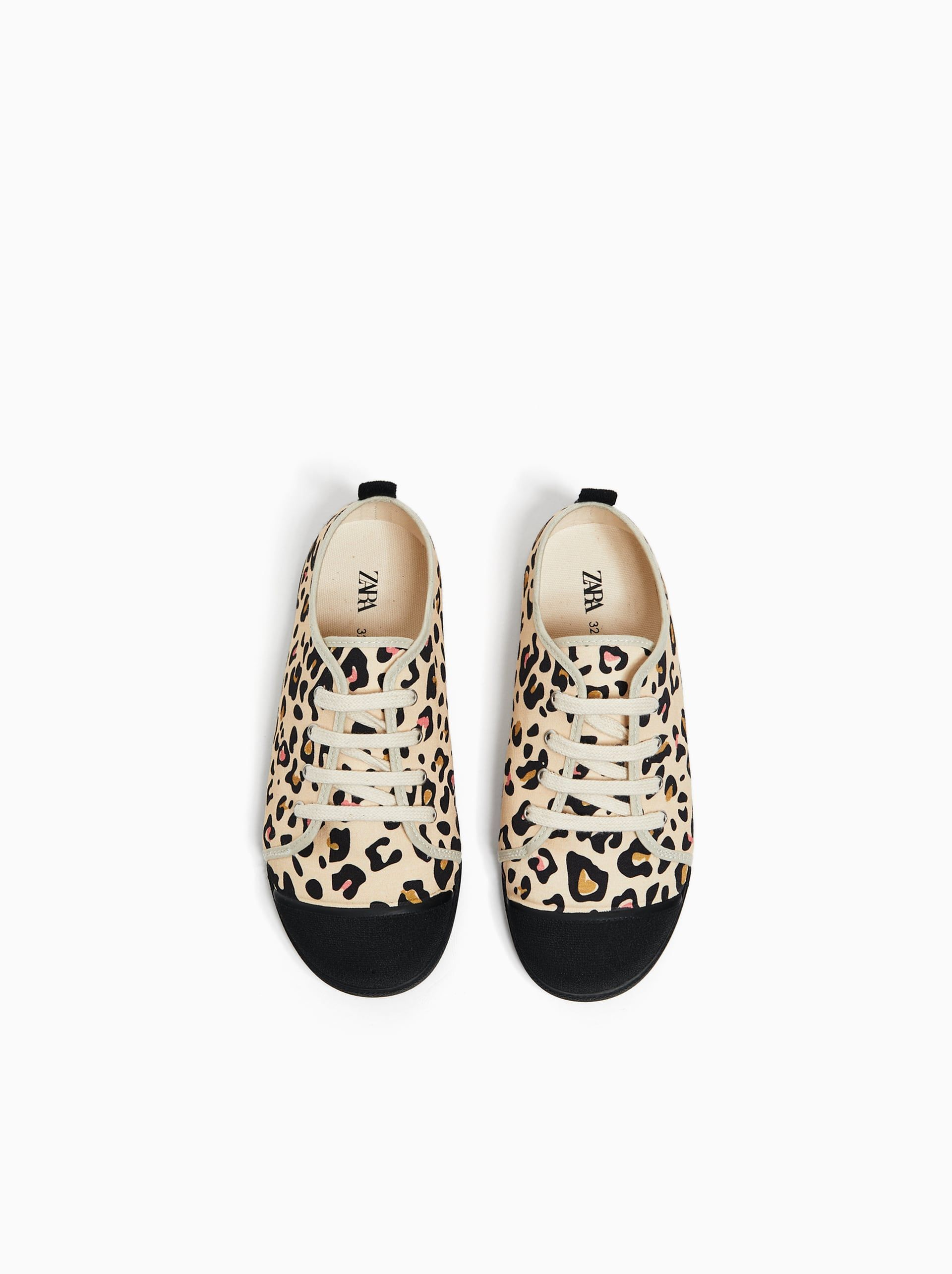 Girls Shoes New Collection Online Zara United States Girls Shoes Print Sneakers Leopard Print Sneakers