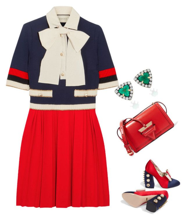 """""""Untitled #1504"""" by clothes-wise ❤ liked on Polyvore featuring Gucci, Loewe and Jemma Wynne"""